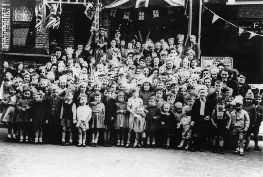 VE Day Party in Maygrove Road, 1945
